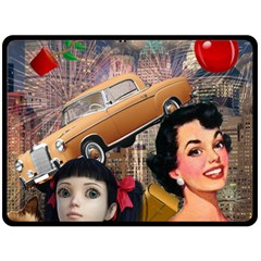 Out In The City Double Sided Fleece Blanket (large)