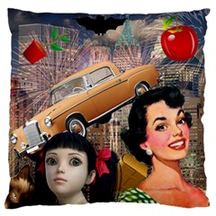 Out In The City Standard Flano Cushion Case (one Side)