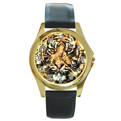 Tiger 1340039 Round Gold Metal Watch