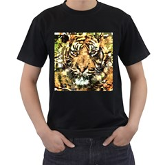 Tiger 1340039 Men s T Shirt (black) (two Sided)