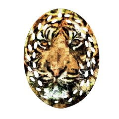 Tiger 1340039 Oval Filigree Ornament (two Sides)