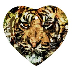 Tiger 1340039 Heart Ornament (two Sides)