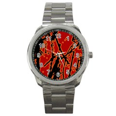 Vivid Abstract Grunge Texture Sport Metal Watch