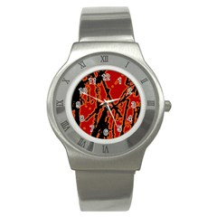 Vivid Abstract Grunge Texture Stainless Steel Watch