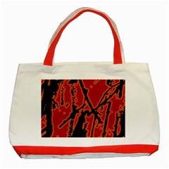 Vivid Abstract Grunge Texture Classic Tote Bag (red)
