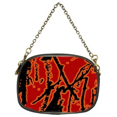 Vivid Abstract Grunge Texture Chain Purses (two Sides)