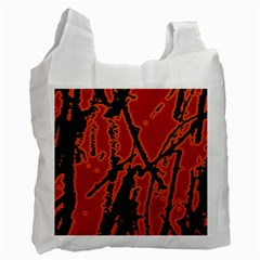 Vivid Abstract Grunge Texture Recycle Bag (two Side)