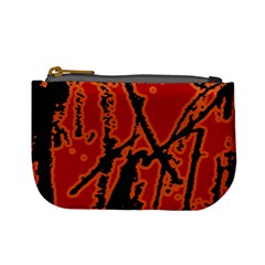 Vivid Abstract Grunge Texture Mini Coin Purses