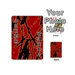 Vivid Abstract Grunge Texture Playing Cards 54 (Mini)  Front - Joker1