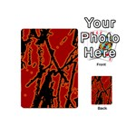 Vivid Abstract Grunge Texture Playing Cards 54 (Mini)  Back