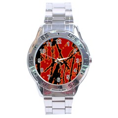 Vivid Abstract Grunge Texture Stainless Steel Analogue Watch