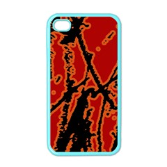 Vivid Abstract Grunge Texture Apple Iphone 4 Case (color)