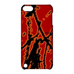 Vivid Abstract Grunge Texture Apple Ipod Touch 5 Hardshell Case With Stand