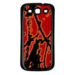 Vivid Abstract Grunge Texture Samsung Galaxy S3 Back Case (black)
