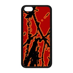 Vivid Abstract Grunge Texture Apple Iphone 5c Seamless Case (black)