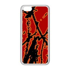 Vivid Abstract Grunge Texture Apple Iphone 5c Seamless Case (white)