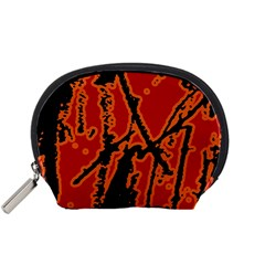 Vivid Abstract Grunge Texture Accessory Pouches (small)