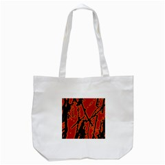 Vivid Abstract Grunge Texture Tote Bag (white)