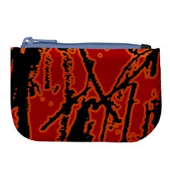 Vivid Abstract Grunge Texture Large Coin Purse