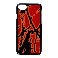 Vivid Abstract Grunge Texture Apple Iphone 8 Seamless Case (black)