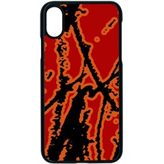 Vivid Abstract Grunge Texture Apple Iphone X Seamless Case (black)