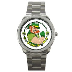 St  Patricks Day Sport Metal Watch