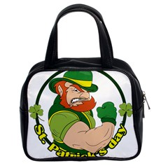 St  Patricks Day Classic Handbags (2 Sides)
