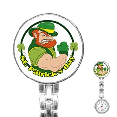 St  Patricks Day Stainless Steel Nurses Watch
