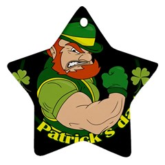 St  Patricks Day Star Ornament (two Sides)