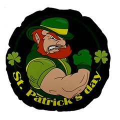 St  Patricks Day Large 18  Premium Round Cushions