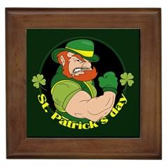 St  Patricks Day Framed Tiles