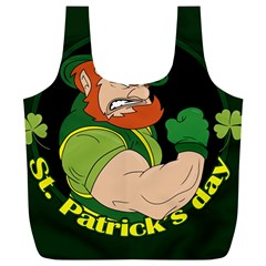 St  Patricks Day Full Print Recycle Bags (l)