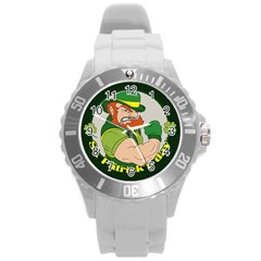 St  Patricks Day Round Plastic Sport Watch (l)