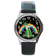St  Patrick  Dabbing Round Metal Watch