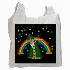 St  Patrick  Dabbing Recycle Bag (one Side)