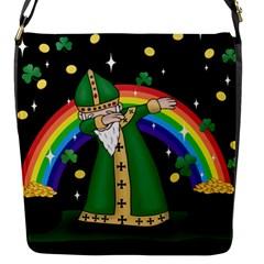 St  Patrick  Dabbing Flap Messenger Bag (s)