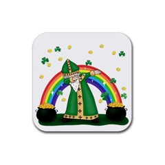 St  Patrick  Dabbing Rubber Square Coaster (4 Pack)