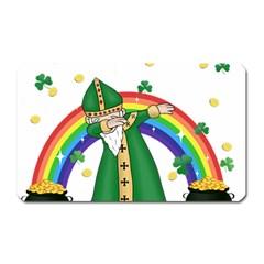 St  Patrick  Dabbing Magnet (rectangular)