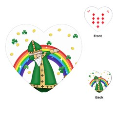St  Patrick  Dabbing Playing Cards (heart)