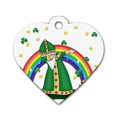 St  Patrick  Dabbing Dog Tag Heart (one Side)