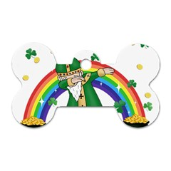 St  Patrick  Dabbing Dog Tag Bone (one Side)