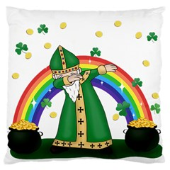 St  Patrick  Dabbing Large Cushion Case (two Sides)