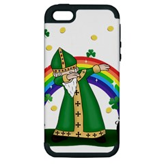 St  Patrick  Dabbing Apple Iphone 5 Hardshell Case (pc+silicone)
