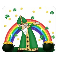 St  Patrick  Dabbing Double Sided Flano Blanket (small)