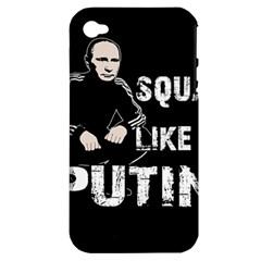 Squat Like Putin Apple Iphone 4/4s Hardshell Case (pc+silicone)