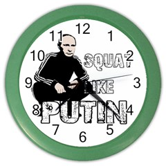 Squat Like Putin Color Wall Clocks