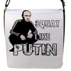 Squat Like Putin Flap Messenger Bag (s)