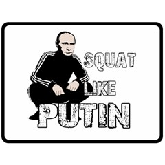 Squat Like Putin Double Sided Fleece Blanket (large)