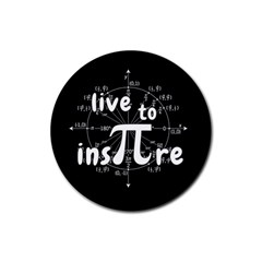Pi Day Rubber Round Coaster (4 Pack)