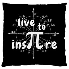 Pi Day Large Cushion Case (two Sides)